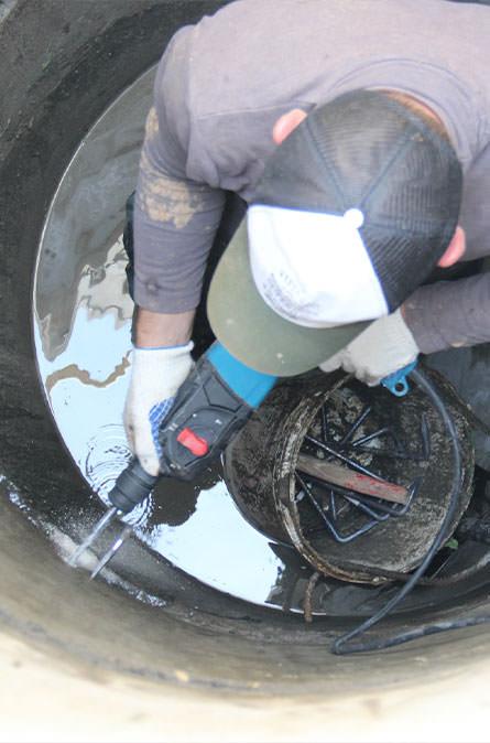 Как мы выполняем ремонт колодцев в Малоярославском районе